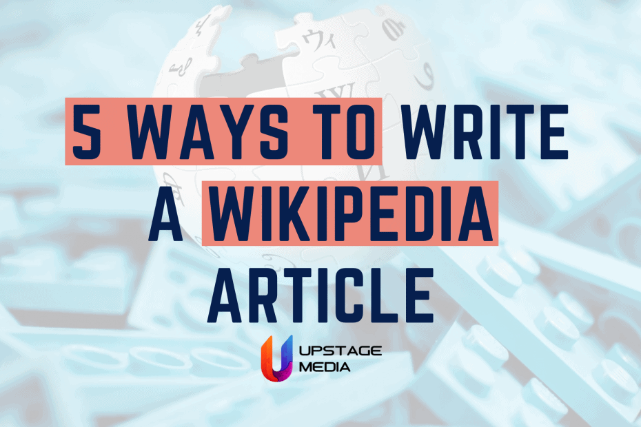 Creating a Wikipedia page: 5 steps to your own article